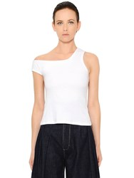 Jacquemus Asymmetric Cotton Jersey Top