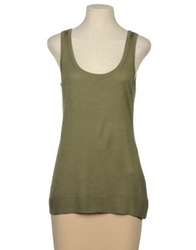 Michael Michael Kors Sleeveless Sweaters Military Green