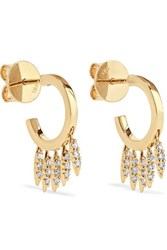Ileana Makri Grass Clipping 18 Karat Gold Diamond Earrings