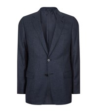 Armani Collezioni Diamond Weave Jacket Male Navy