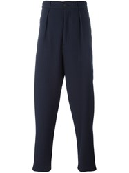 Giorgio Armani Tailored Zip Pocket Trousers Blue