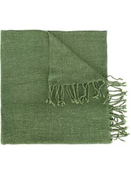 Al Duca D'aosta 1902 Fringed Knitted Scarf Green