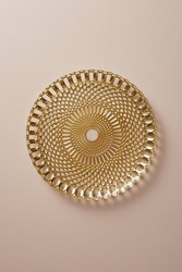 Anthropologie Checkerboard Charger Gold