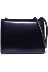 Dries Van Noten Knotted Leather Shoulder Bag Navy