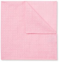 Anderson And Sheppard Polka Dot Cotton Pocket Square Pink