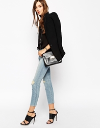 J Brand Cropped Skinny Jeans With All Over Ripped Distressing Dropoutblue