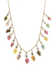 Jacquie Aiche Diamond Tourmaline And Gold Necklace Multi