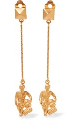 Valentino Aquarius Gold Plated Earrings One Size