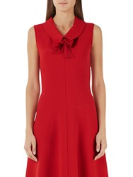 Marc Cain Sleeveless Flared Dress Red