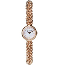 Links Of London Effervescence Star Rose Gold And Sapphire Watch Rose Gold