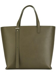 Pb 0110 Gold Tone Hardware Big Tote Green
