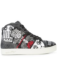 Haculla Nobody's Safe Graphic High Top Sneakers Black