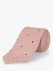 Jaeger Floral Spot Silk Cotton Tie Mid Pink
