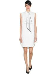 Givenchy Crepe De Chine Dress White