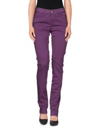 Camouflage Ar And J. Casual Pants Purple