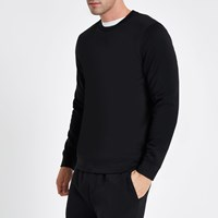 River Island Black Crew Neck Long Sleeve Sweatshirt