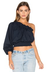 Free People Anabelle Asymmetrical Top Navy