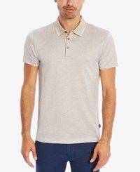 Hugo Boss Men's Slim Fit Patterned Mercerized Polo Openbeige