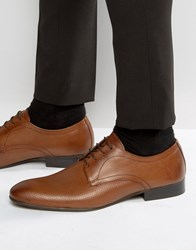 Base London Statement Leather Derby Shoes Tan