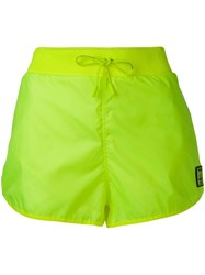 Off White Sporty Shorts Yellow