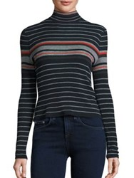 Rag And Bone Striped Turtleneck Sweater Salute Stripes