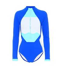 Lndr Triton Rashie Stretch Bodysuit Blue