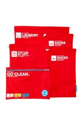 Flight 001 Go Clean Set Bags Red