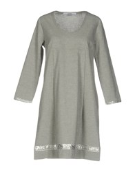 La Fabbrica Del Lino Short Dresses Light Grey