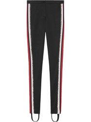 Gucci Technical Jersey Stirrup Leggings With Crystals Cotton Polyester S Black