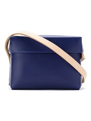Gloria Coelho Plastic Bag With Leather Straps Blue
