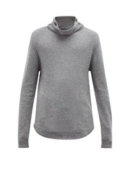 Denis Colomb Roll Neck Cashmere Sweater Grey