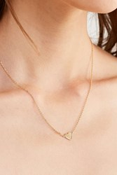 Urban Outfitters Simple Heart Charm Necklace Gold