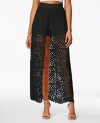 Material Girl Juniors' Lace Overlay Skort Only At Macy's Caviar Black