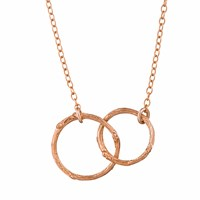 Chupi Just The Two Of Us Hawthorn Twig Circle Necklace In Rose Gold