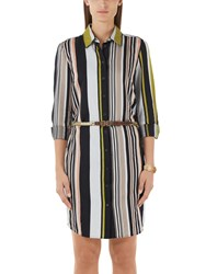 Marc Cain Stripe Shirt Dress Multi