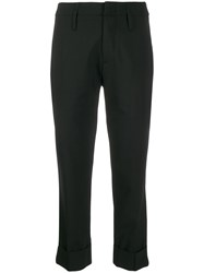 Tela Woven Cropped Trousers Black