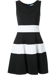 Guild Prime Wide Stripe Textured A Line Skirt Black
