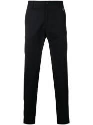 Dolce And Gabbana Crown Detail Tailored Trousers Black