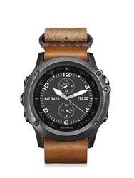 Garmin Fenix 3 Sapphire Leather Watch