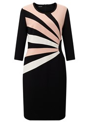 Gerry Weber 3 4 Sleeve Jersey Dress Black Peach