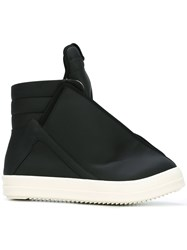 Rick Owens Drkshdw Long Tongue Slip On Hi Tops Black