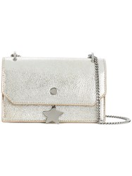 Jimmy Choo Serenagle Shoulder Bag Buffalo Leather Metallic