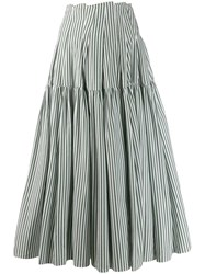 Jourden Striped Maxi Skirt Green