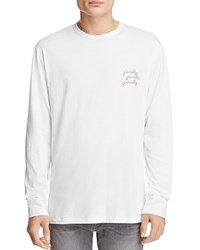 Barney Cools Girls Girls Girls Long Sleeve Tee White Pink