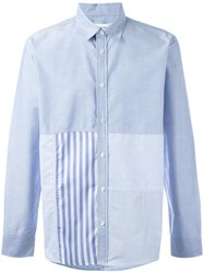 Soulland 'Miller' Patchwork Shirt Blue