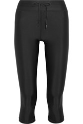 The Upside Nyc Cropped Stretch Leggings Black