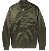 Acne Studios Selo Shell Bomber Jacket Green