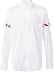 Thom Browne Striped Sleeve Shirt White