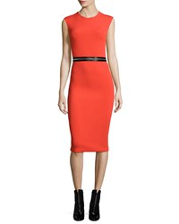 Mcq By Alexander Mcqueen Mcq Alexander Mcqueen Zip Trim Bodycon Sheath Dress Red