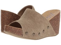 Blowfish Host Cocoa Rancher Canvas Women's Wedge Shoes Brown